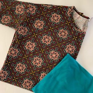 Lularoe Irma TC outfit set Women's Medium